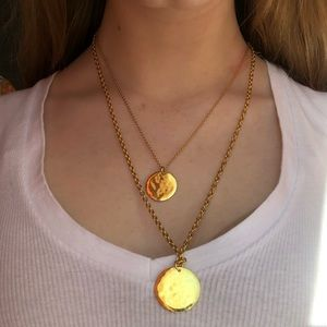 J.Crew gold plated coin necklace!!